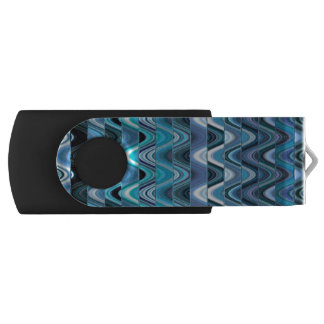 A Modern Abstract Colorful Wave Pattern Swivel USB 2.0 Flash Drive
