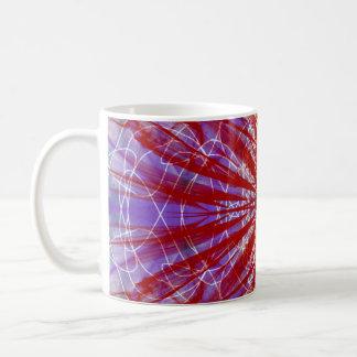 a modern tye dye coffee mug