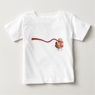A modern version of the Robin Red Breast Baby T-Shirt