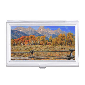 A Moment in Wyoming in Autumn Business Card Holder