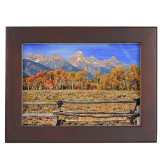 A Moment in Wyoming in Autumn Keepsake Box