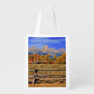 A Moment in Wyoming in Autumn Reusable Grocery Bag