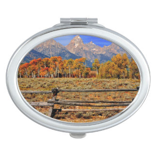 A Moment in Wyoming in Autumn Travel Mirror