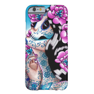 A Moment of Silence- Tattooed Sugar Skull Girl Barely There iPhone 6 Case