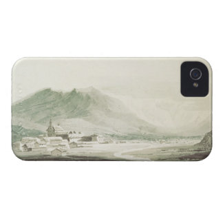 A monastery in an alpine valley (grey & blue washe iPhone 4 covers