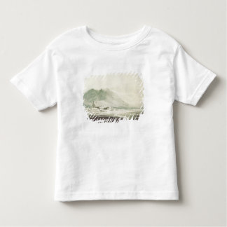 A monastery in an alpine valley (grey & blue washe toddler T-Shirt