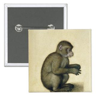 A Monkey 15 Cm Square Badge
