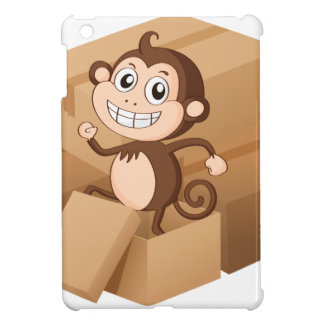 A monkey and boxes iPad mini case