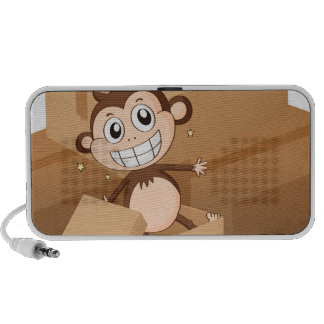 A monkey and boxes speaker system