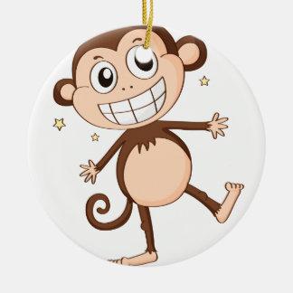 a monkey christmas ornament