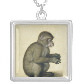 A Monkey Silver Plated Necklace