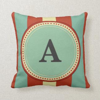 'A' Monogram Cushion