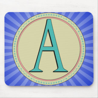 A-MONOGRAM LETTER MOUSE PADS