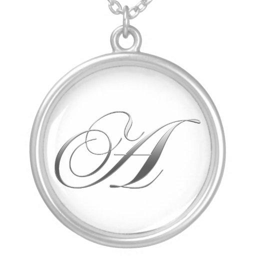 A Monogram Pendant