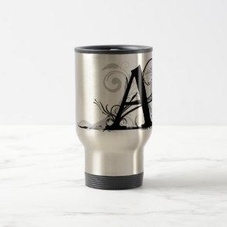 """A"" - Monogrammed Travel Mug"
