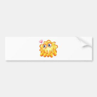 A monster falling in love bumper sticker