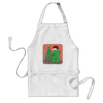 A Monster Holiday Cartoon Standard Apron