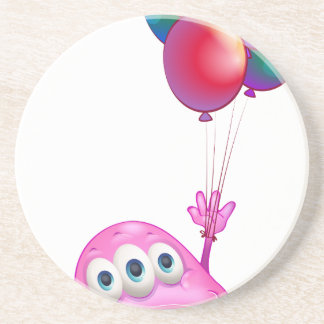 A monster with balloons coaster