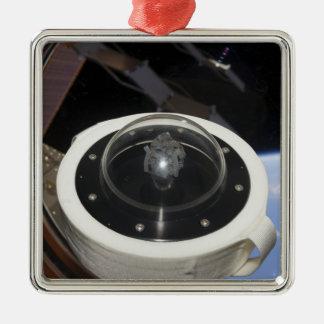 A moon rock 3 Silver-Colored square decoration