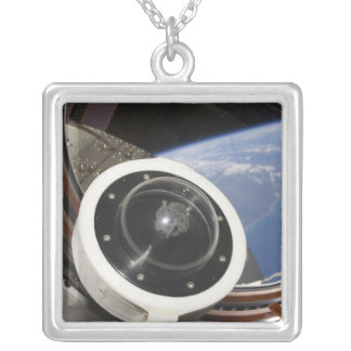 A moon rock silver plated necklace
