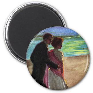 A Moonlight Stroll 6 Cm Round Magnet