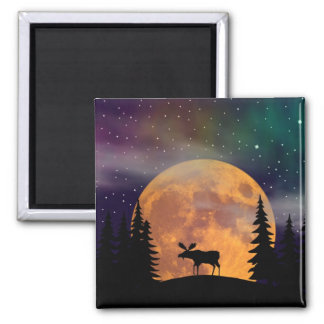 A Moose on the Loose Magnet