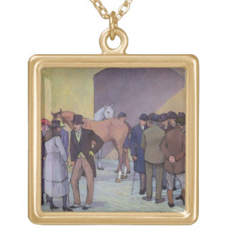 A Morning at Tattersall's (oil on canvas) Pendants