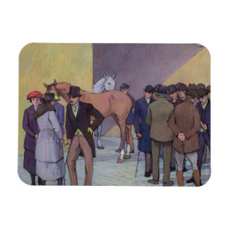 A Morning at Tattersall's (oil on canvas) Vinyl Magnet