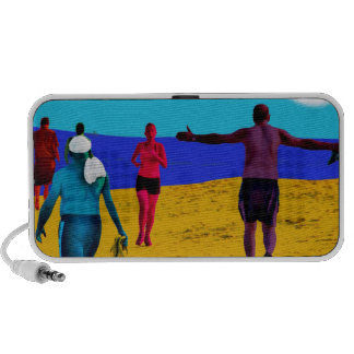 A morning on the beach travelling speakers