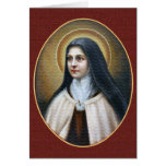 A MORNING PRAYER WRITTEN BY ST. THERESE GREETING CARD