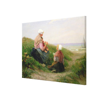 A Mother and her Small Children Canvas Print