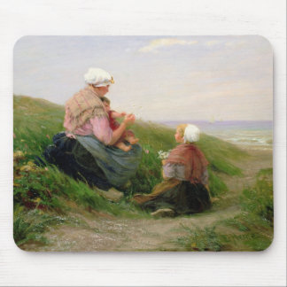 A Mother and her Small Children Mouse Mat