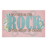 A mother is the rock