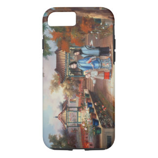 A mother with her children in a chinese garden, c. iPhone 8/7 case