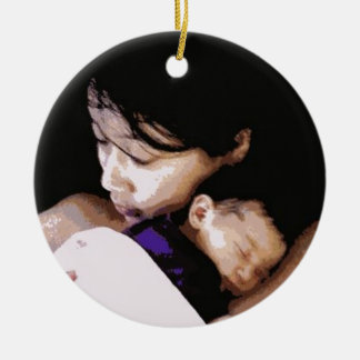 "A Mother with her Newborn"" ornament"