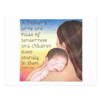 A Mother's Arms Inspirational Postcard