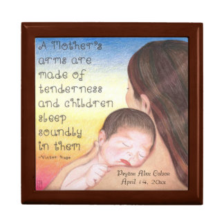 A Mother's Arms Personalized Baby Keepsake Box