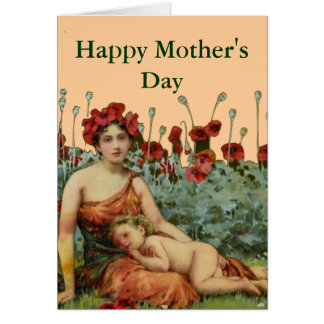 A Mother's Day art nouveau Greeting Card