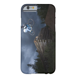 A mountain biker jumps off a log cabin in Idaho. Barely There iPhone 6 Case