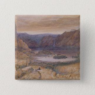 A Mountain Lake, Norway, c.1827 15 Cm Square Badge