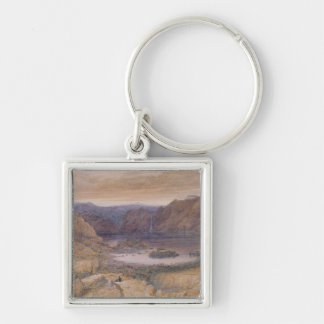 A Mountain Lake, Norway, c.1827 Silver-Colored Square Key Ring