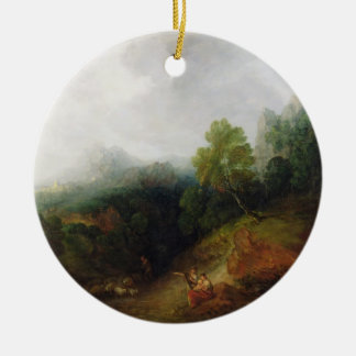 A Mountain Valley with Rustic Figures, c.1773-7 (o Christmas Ornament