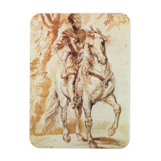 A Mounted Knight in Armour (pen and ink on paper) Rectangular Photo Magnet