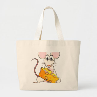 A mouse and cheese jumbo tote bag