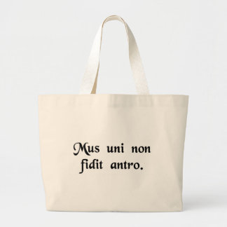 A mouse does not rely on just one hole. tote bag
