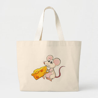 A mouse eating cheese jumbo tote bag