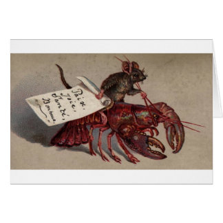 A Mouse & His Lobster Greeting Card