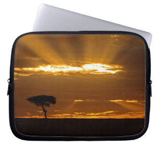 A mouth openning sunrise in the Maasai Mara Laptop Sleeve