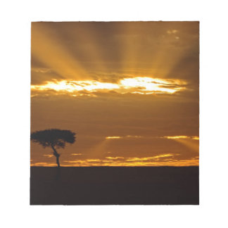 A mouth openning sunrise in the Maasai Mara Notepad