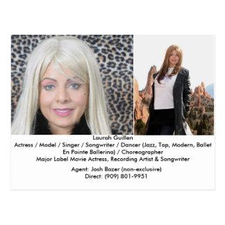 A Movie Actress Laurah Guillen Movie Composite Postcard